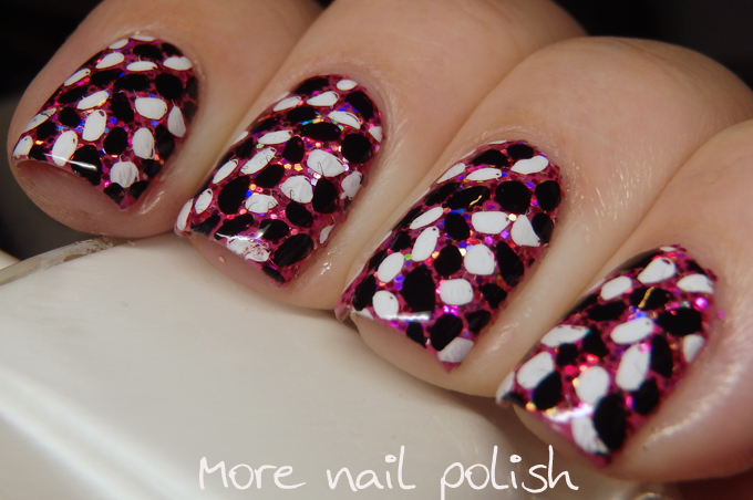 Pebble stamping over glitter with Clear Jelly Stamper | More Nail ...