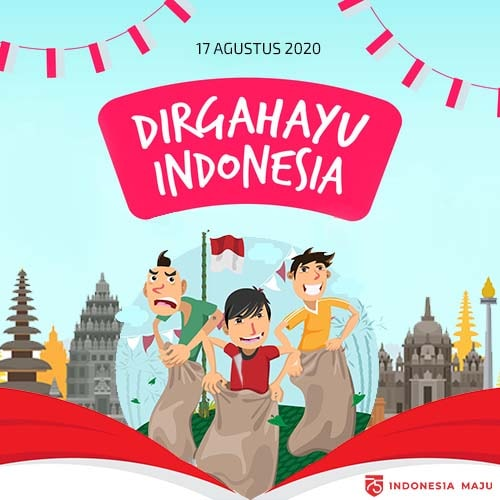 gambar ucapan 75 tahun indonesia maju