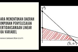 Cara menentukan daerah himpunan penyelesaian pertidaksamaan linear dua variabel