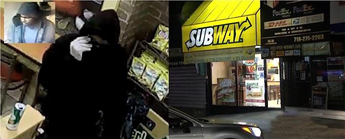 Buscan atracador por 23 robos en restaurantes de comida rápida en Long Island, Nassau y Queens