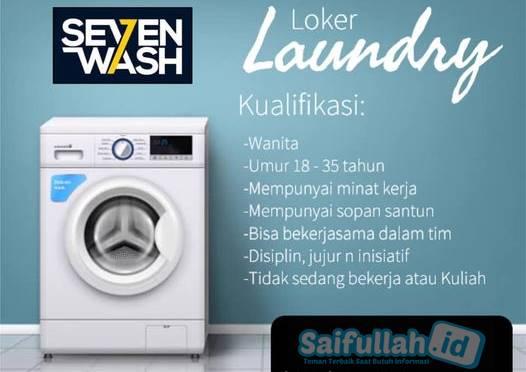 Lowongan Kerja Karyawati Seven Wash Laundry Jl. Sepakat 2 Pontianak
