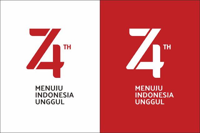Logo HUT ke-74 Kemerdekaan RI
