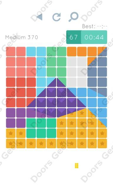 Cheats, Walkthrough for Blocks and Shapes Medium Level 370