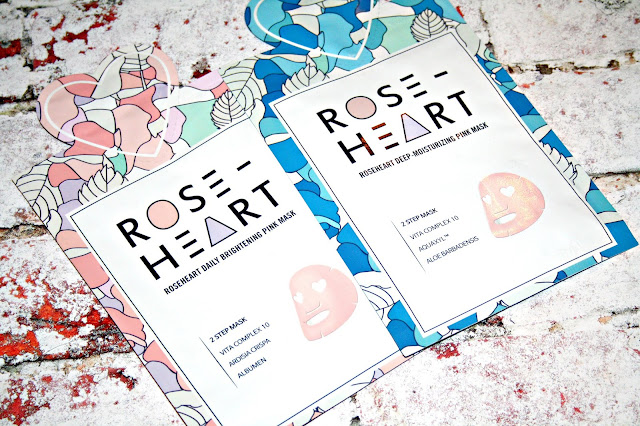 Love on Rose - Roseheart Brightening & Moisturising Two Step Masks