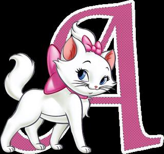 Alfabeto Rosa con Gatita Marie.