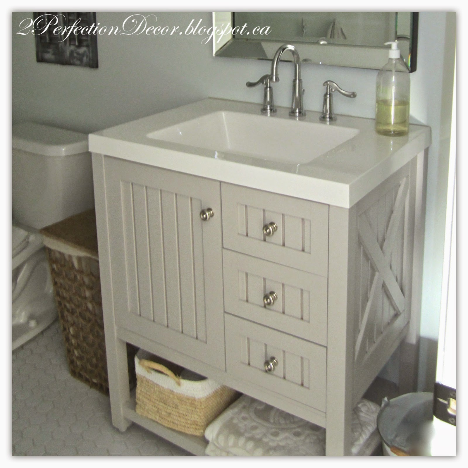 Basement Tub: 2Perfection Decor: Basement Coastal Bathroom Reveal