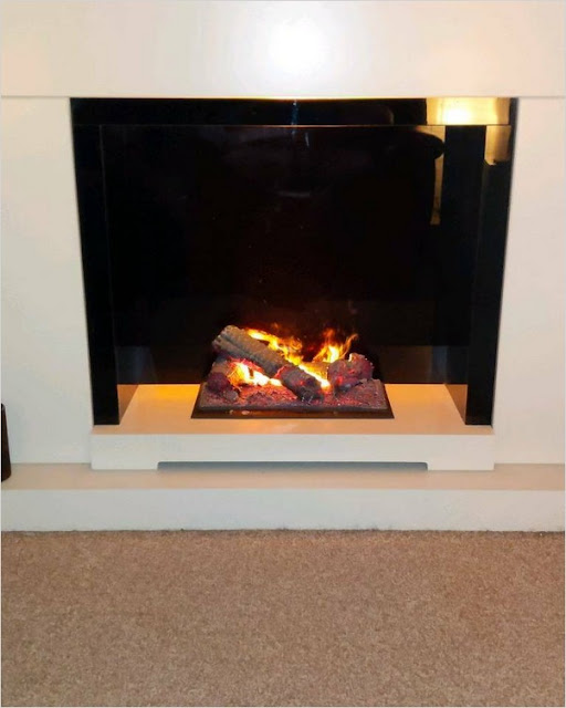 best most realistic electric fireplace insert with mantel