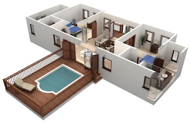 denah rumah sederhana