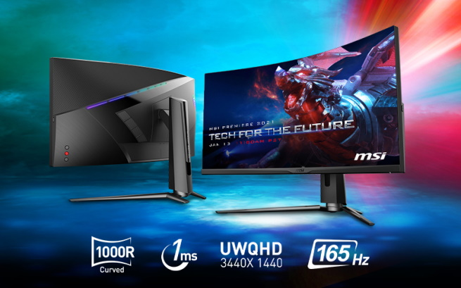 Oculux NGR253R and MPG Artymis 343CQR gaming monitors