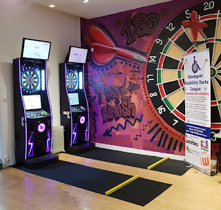 Darts at The Players' Entrance in Stockport's Merseyway shopping centre