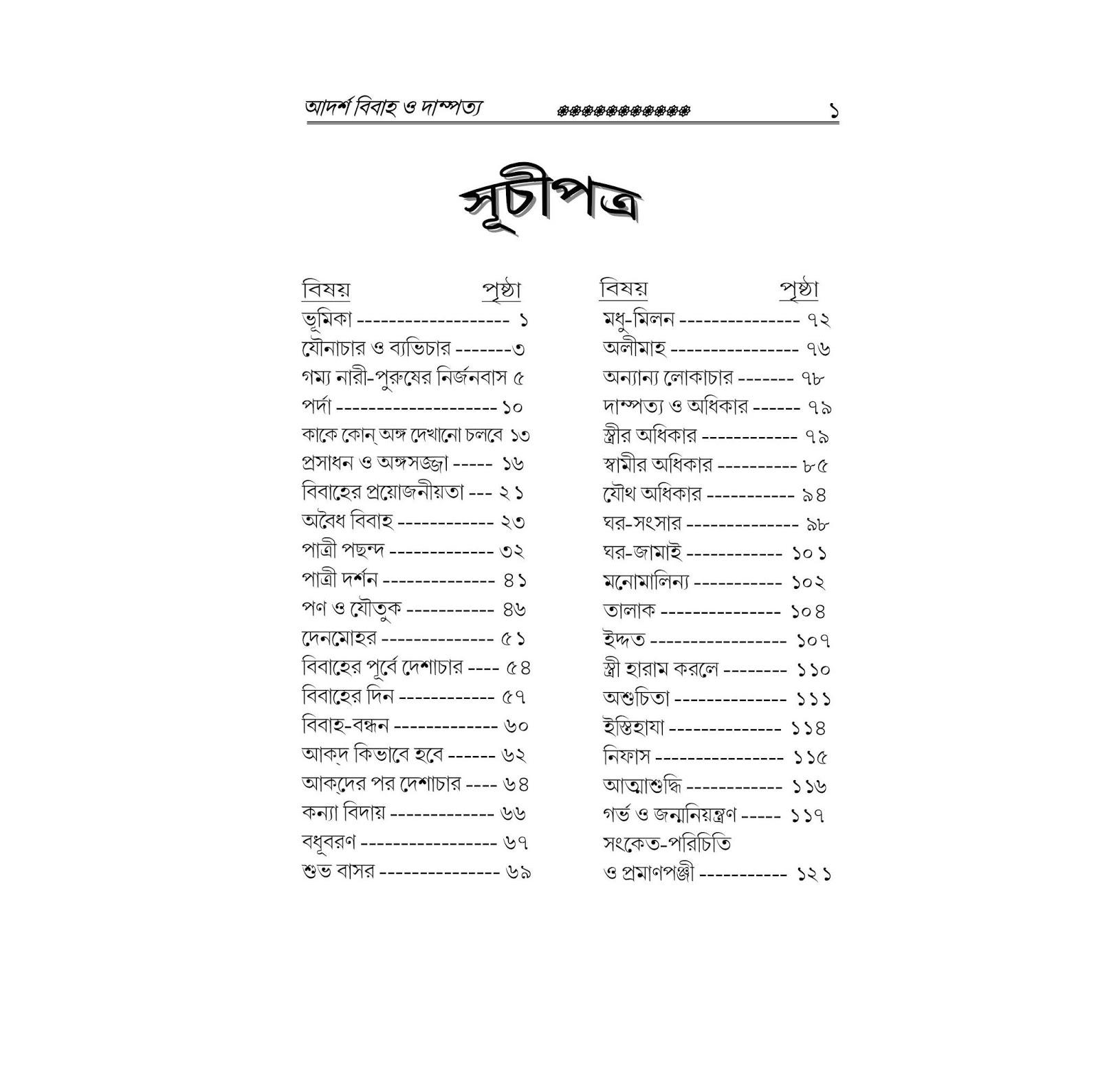 আদর্শ বিবাহ ও দাম্পত্য জীবন pdf | বিয়ে সম্পর্কিত বই |বিয়ে সম্পর্কিত বই pdf