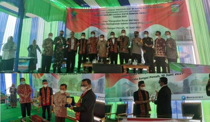 Ketua DPRD Fajran Hadiri Peresmian Gedung Layanan Perpustakaan Daerah Kota Sungai Penuh