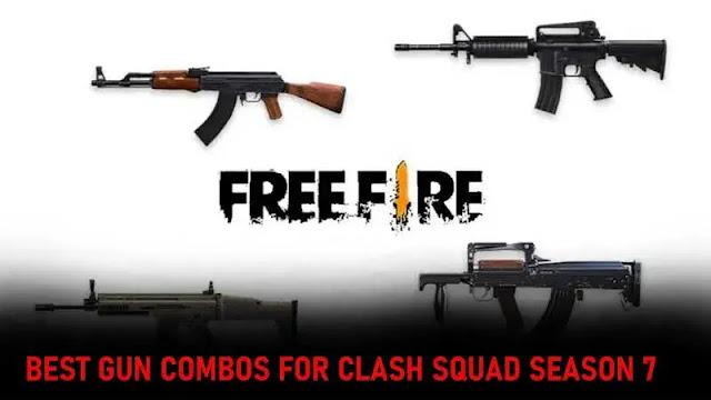 أفضل 3 مجموعات من البنادق لموسم Free Fire Clash Squad الموسم السابع
