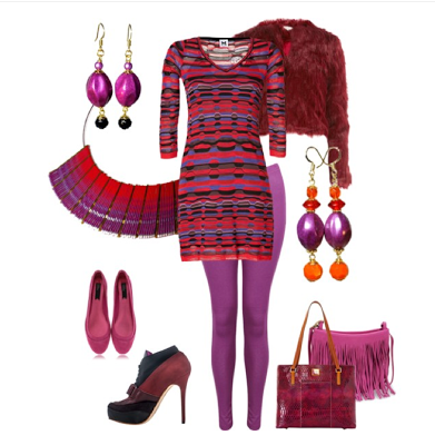 red purple polyvore