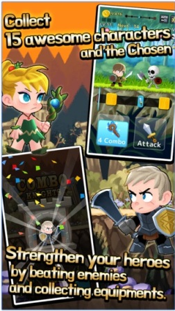 Game RPG Petualangan Offline Android Combo Heroes MOD APK