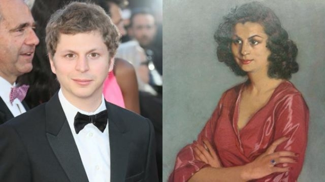 Michael Cera and the woman with the Spanish paintings