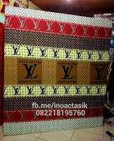 Kasur inoac motif louis cokelat merah inoactasik