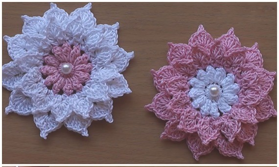 Crochet flowers very beautiful