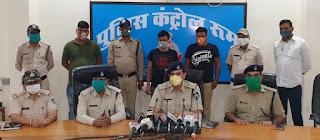 गोली से उड़ा देंगे की धमकी व्यापारी को देकर 1 करोड़ रूपये की मांग करने वाले दोनों आरोपी गिरफ्तार