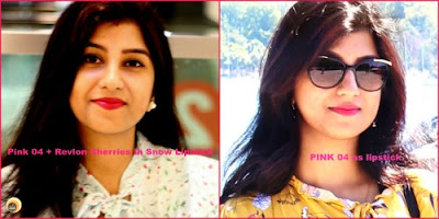 Anamika Chattopadhyaya wearing Faces PINK 04 Lip Definer with Revlon Pink lipstick, NBAM