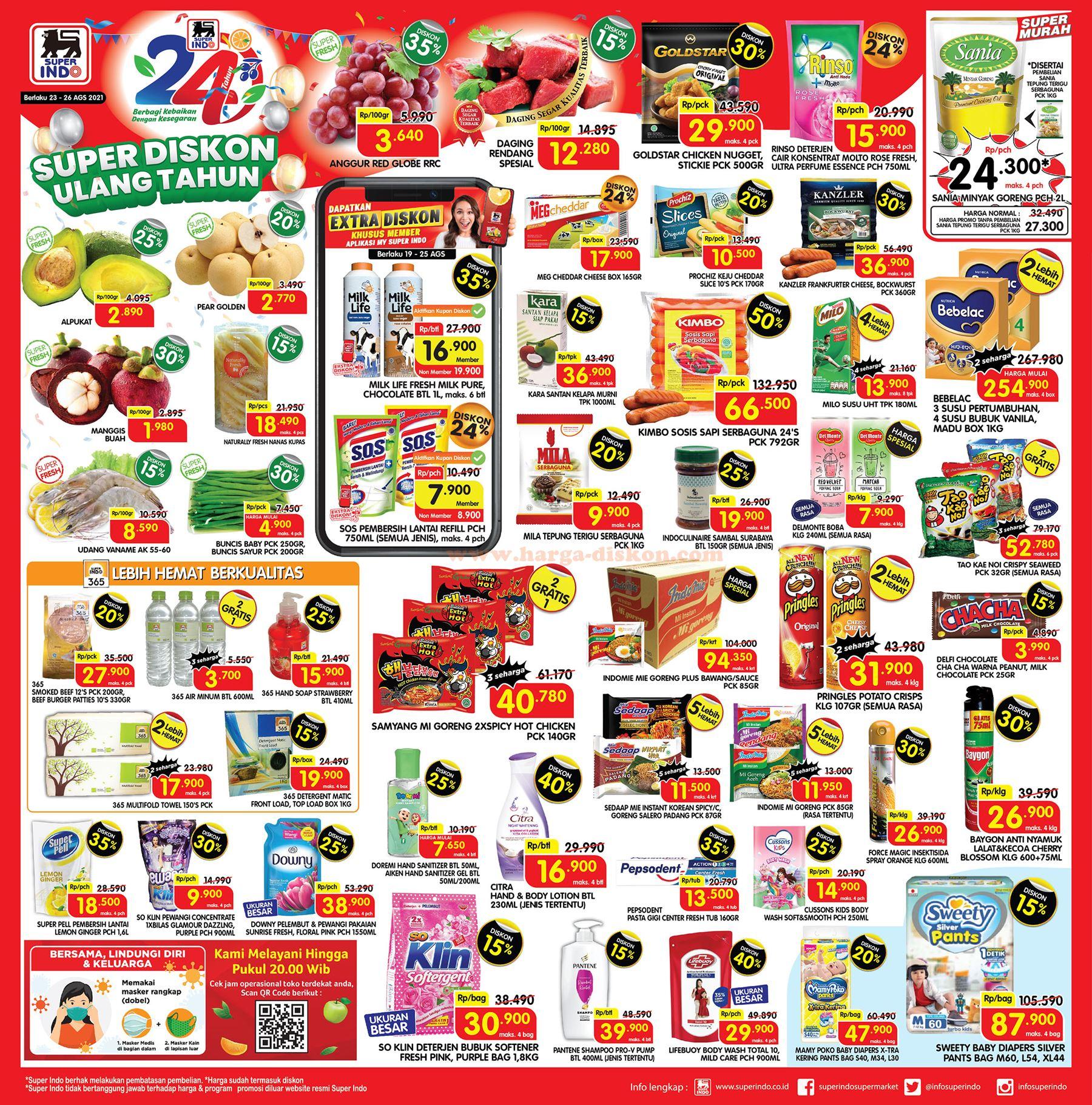 Promo SUPER INDO Awal Pekan Weekday Promo 23 - 26 Agustus 2021