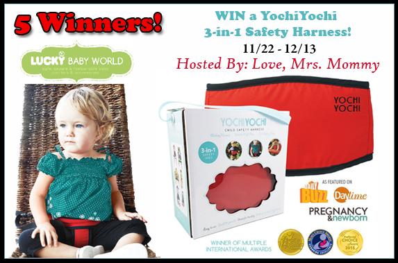 YochiYochi 3-in-1 Safety Harness Giveaway! 5 Winners - $135 TRV! 12/13