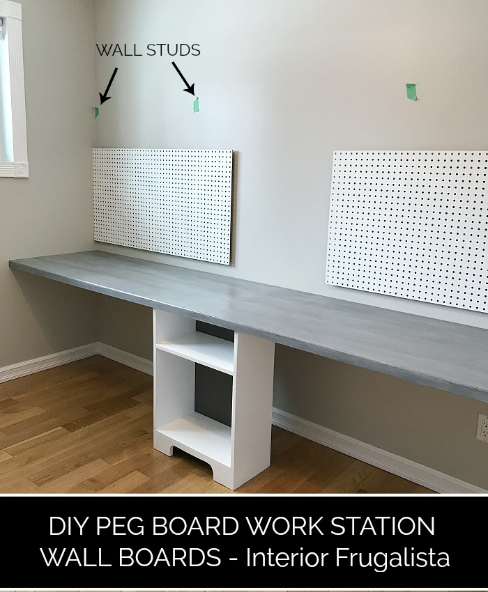 DIY Home Office Pegboard Walls