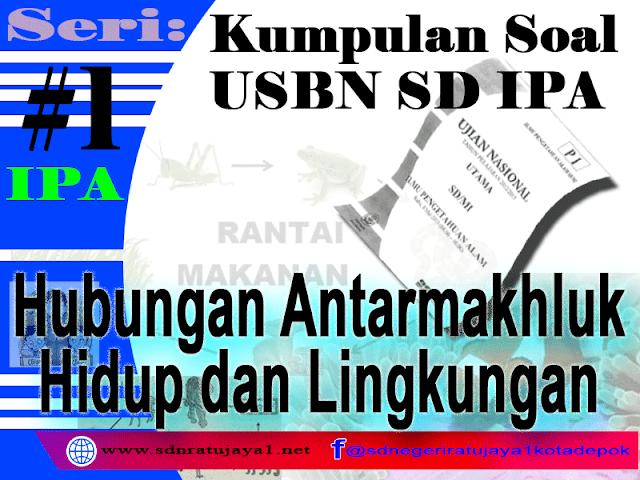 Kumpulan Soal USBN SD IPA 2019 tentang Hubungan Antarmakhluk Hidup dan Lingkungan