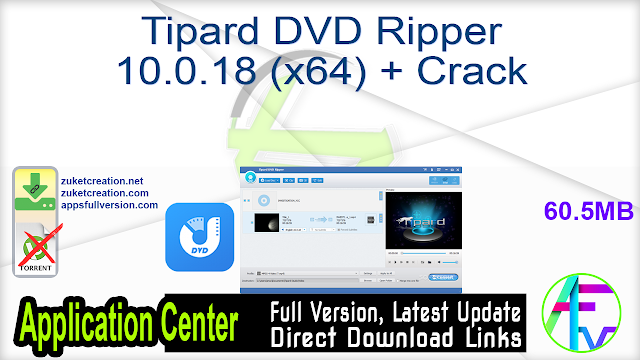 Tipard DVD Ripper 10.0.18 (x64) + Crack