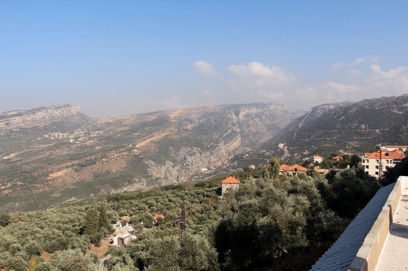 Blick auf die libanesischen Berge