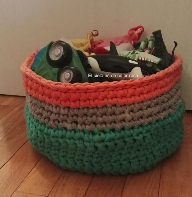 cesta trapillo tamaño xl para juguetes