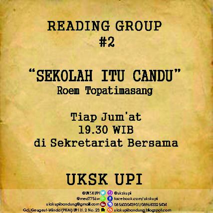 """Catatan Waktu Luang [Catatan Reading Group """"Sekolah Itu Candu"""" karya Roem Topatimasang Pertemuan #1]"""