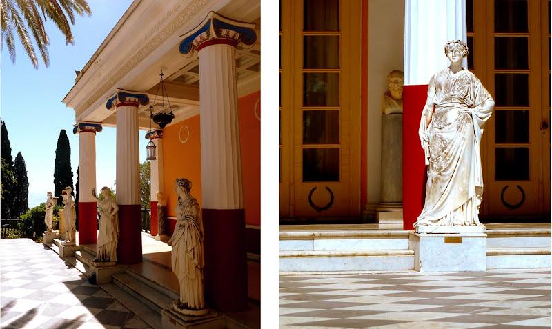 Neun Musen im Achilleion Palast auf Korfu
