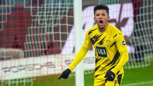 Jadon Sancho in action for Dortmund