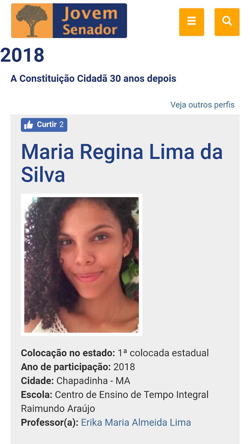 Chapadinhense vence concurso de redação e irá representar o Maranhão no Senado Federal