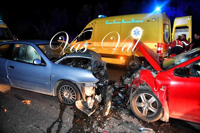 Από θαύμα δεν είχαμε θύματα από την μετωπική σύγκρουση αυτοκινήτων στα Δερβενάκια