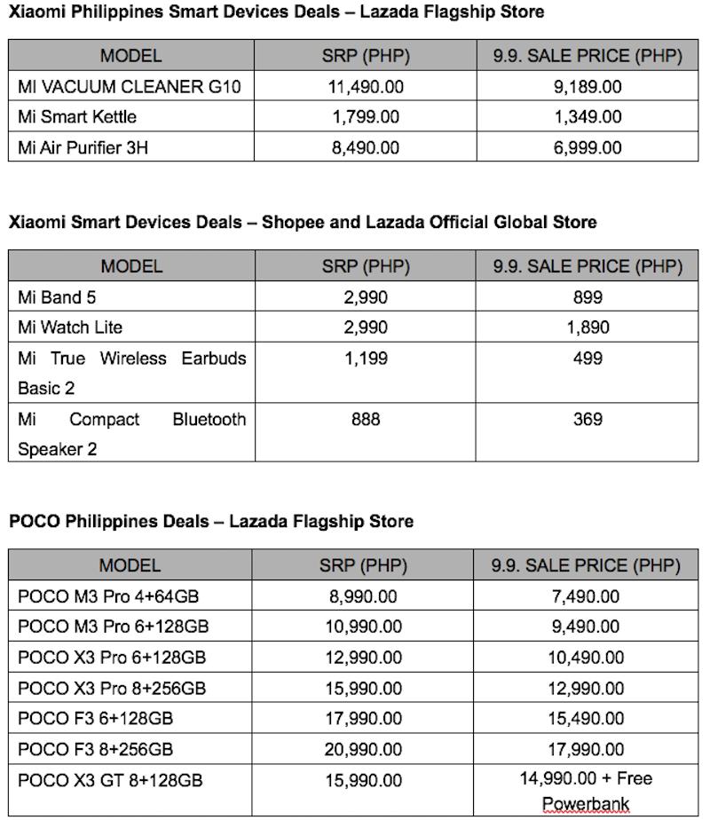 Xiaomi and POCO 9.9 sale