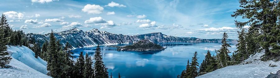 Crater Lake, Oregon, South Rim in May 2016 by Achmathur