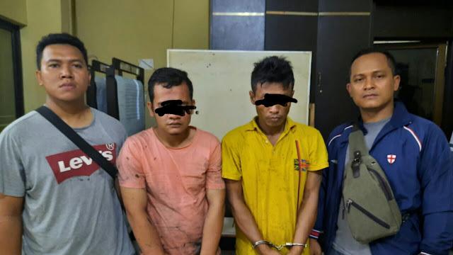 Tunggu Pasien Dikebun Sawit, SB dan RS, Diringkus Tim Sus Narkotika polres tanjung Balai