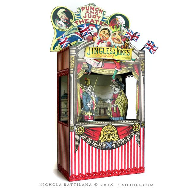 Punch and Judy Theatre - Nichola Battilana pixiehill.com Alpha Stamps