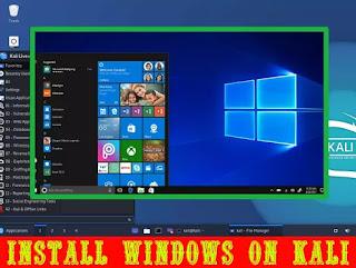 installing Windows 10 on Kali Linux