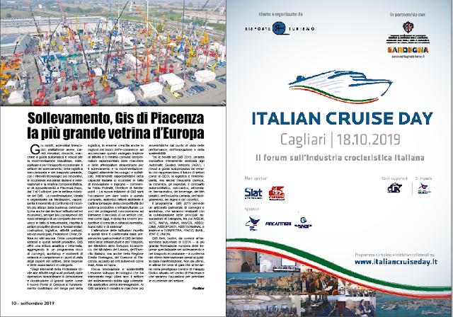 SETTEMBRE 2019 PAG. 10 - Sollevamento, Gis di Piacenza la più grande vetrina d'Europa
