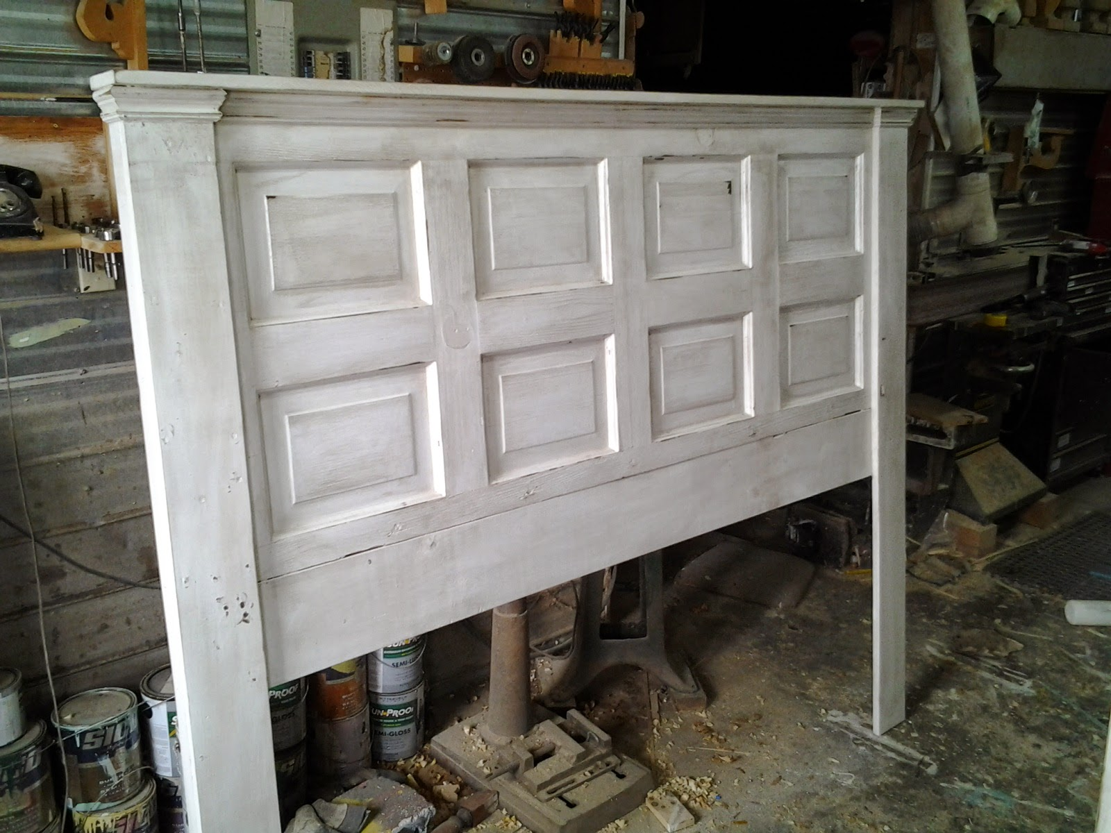 Headboard From Old Door