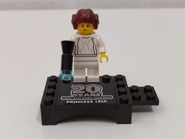 minifigure della Principessa Leia per il ventesimo anniversario