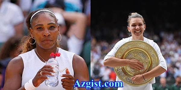 Simona Halep beats Serena Williams