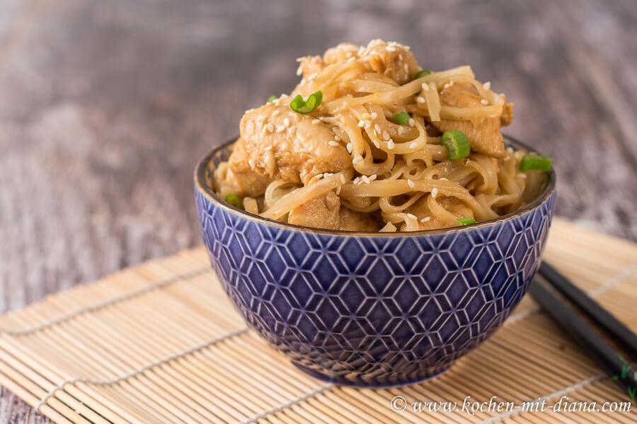 Hühnerfleisch mit Orangensauce – Asia Style