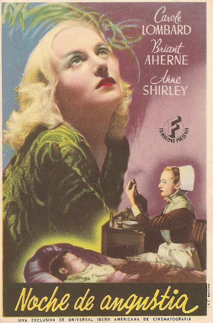 Programa de Cine - Noche de Angustia - Carole Lombard - Peter Cushing