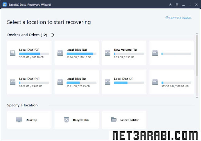 برنامج استعادة الملفات EaseUS Data Recovery