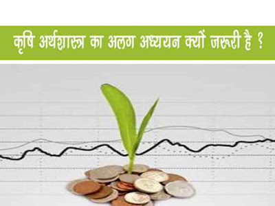 कृषि अर्थशास्त्र का अलग अध्ययन क्यों ? | Why a separate study of agricultural economics?