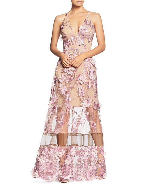 Gigi Floral Illusion Gown